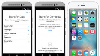 Apples Android-Wechsler-App mit neuem Download-Hoch