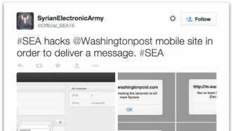 Syrian Electronic Army attackiert abermals Washington Post