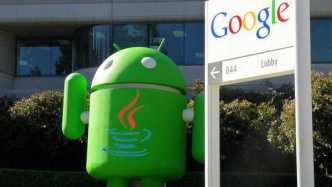 Google-Zentrale mit Android-Bot