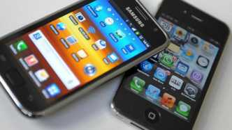 Samsung Galaxy und Apple iPhone