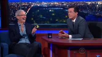 Tim Cook bei Late-Night-Talker Stephen Colbert