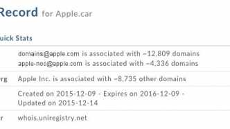 Apple sichert sich Auto-Domains