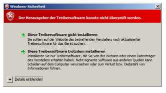 Signaturwarnung Windows-Sicherheit