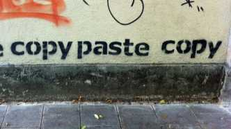 "Graffiti ""paste copy paste copy"""
