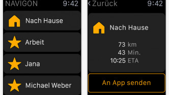 Navigon bringt Apple-Watch-App