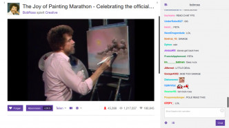 Bob Ross bei Twitch