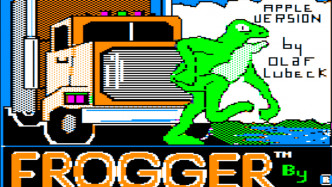 Apple II Frogger