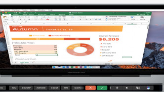Touch Bar in Excel