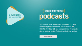 "Podcast-Offensive: Audible startet in Deutschland mit 22 ""Originals"""