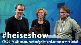 #heiseshow, live ab 12 Uhr: Nach der CES 2018 – Was erwartet uns 2018?