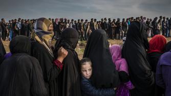 Zivilisten während der Kämpfe um die irakische Stadt Mossul