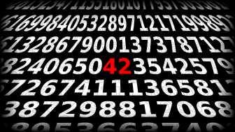 Zahlen, bitte! 42 - die spektakulär unspektakuläre universale Anhalter-Antwort
