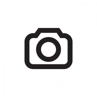 blau - LED Namensschild - Rahmen silber, LED blau