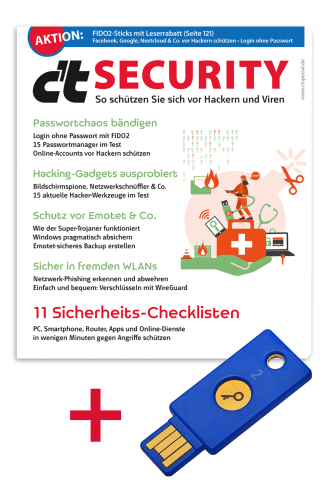 Bundle: Yubico Security Key + Sonderheft c't Security