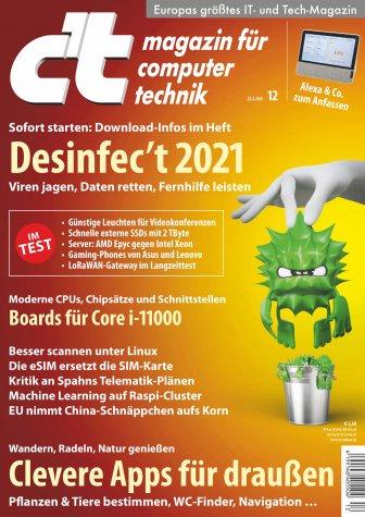 c't 12/2021 inkl. Desinfec't 2021