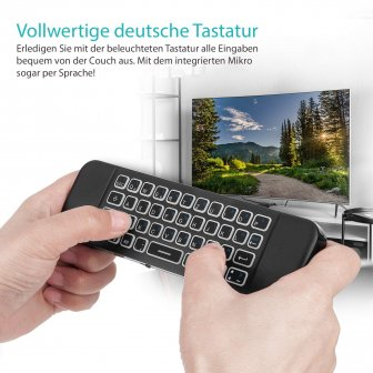 Orbsmart AM-1 Pro kabellose Airmouse mit Mini-Tastatur