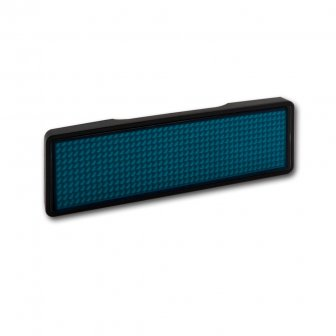 blau - LED Namensschild - Rahmen schwarz, LED blau