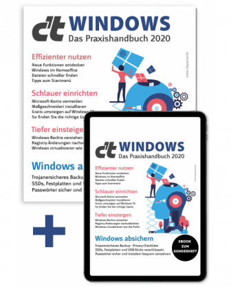 Bundle c't Windows 2020 (Heft + PDF)