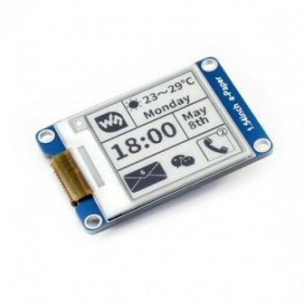 "1.54"" 200x200 ePaper Display Modul mit SPI Interface"