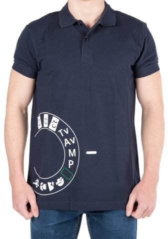 Polo-Shirt Manual Herren French Navy