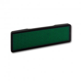 grün - LED Namensschild - Rahmen schwarz, LED grün