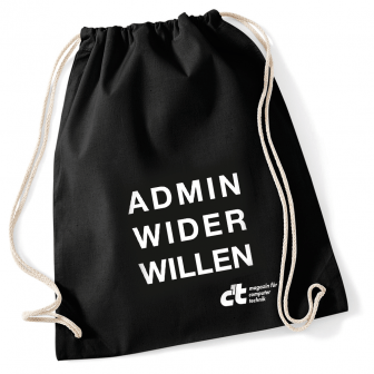 "c't-Turnbeutel ""Admin wider Willen"""