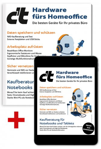 Bundle c't Hardware fürs Homeoffice (Heft + PDF)
