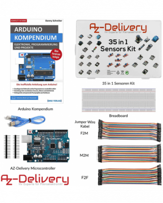 Ultimatives Arduino Starter Kit (inkl. UNO & Buch!)