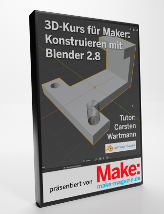 Konstruieren mit Blender 2.8 - ein Make Video-Tutorial