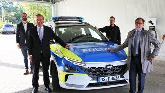 Wasserstoff-Streifenwagen: Osnabrücker Polizei ist zufrieden
