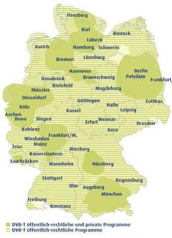 DVB-T-Abdeckung Deutschland 2008