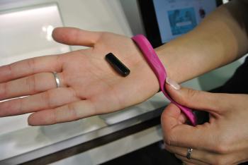 Der Flex von Fitbit lässt sich in Armbänder mit diversen Farben klipsen.