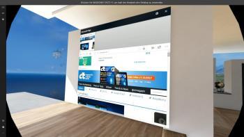 Der Edge-Browser ist als Wand-Projektion bereits voreingestellt.