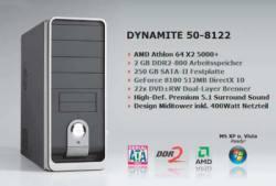 Geradezu ein eBay-Klassiker: Ein Billig-PC wird mit wohlklingendem Technik-Kauderwelsch aufgehübscht. Tatsächlich ist Onboard-Grafik und -Sound drin, Vista oder XP kosten extra.