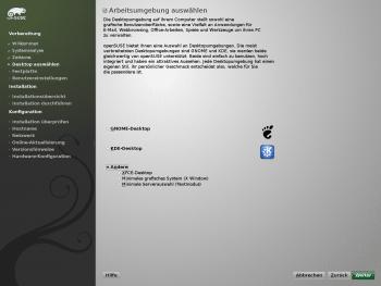 OpenSuse schlägt bei der Installation KDE 4 als Desktop-Umgebung vor