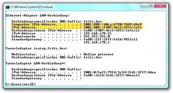 Windows (seit Vista) ezeugt immer eine temporäre IPv6-Adresse, die dem Nutzer mehr Privatheit verschafft.