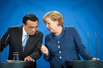 Li Keqiang und Angela Merkel bei der Pressekonferenz zum Besuch des chinesischen Ministerpräsidenten