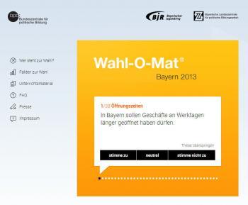 Wahl-O-Mat für Bayern: Die erste von 38 Fragen, die Entscheidungshilfe zur Landtagswahl bieten sollen