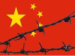 China Zensur Stacheldraht