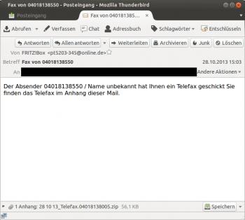 Die Email mit dem Fritzbox-Trojaner