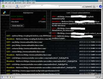 Screenshot des Bot-Kontrollzentrums