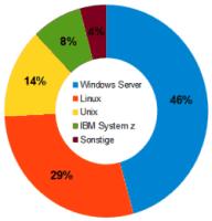 Marktanteile Server-Betriebssysteme IDC Q4/2013