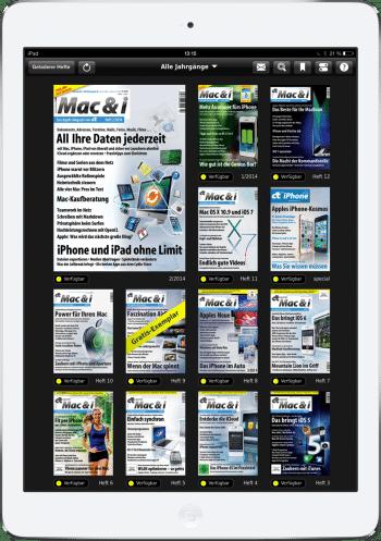 Heftübersicht in der Mac & i-App auf dem iPad
