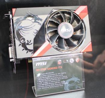 Die Radeon R9 270 Gaming ITX passt auch in kompakte Gehäuse