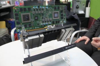 PNY stellte auseinandergeschraubte Virtualisierungskarten von Nvidia aus, etwa die Grid K2.