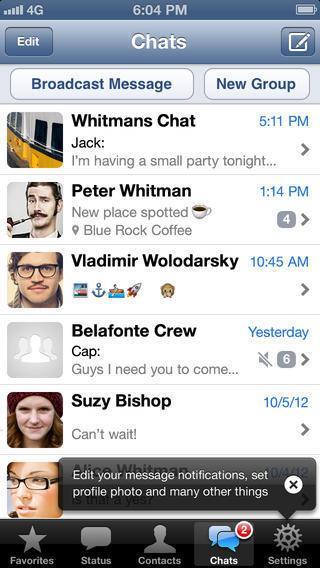 WhatsApp auf dem iPhone