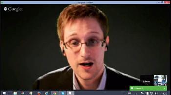Edward Snowden war per Google Hangout zugeschaltet