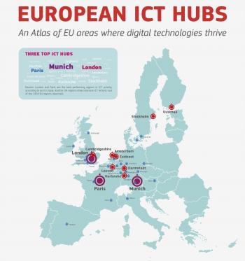 Europas IKT-Kompetenz konzentriert sich im Nordwesten.