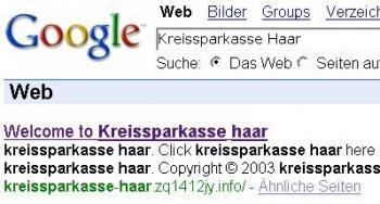 Googles Suchergebnis