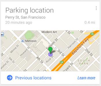 Ein blauer Kreis markiert den ungefähren Standort des geparkten Autos.